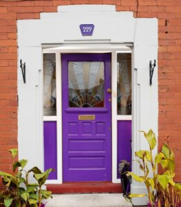 The front door at Lane Ends Podiatry, Warrington