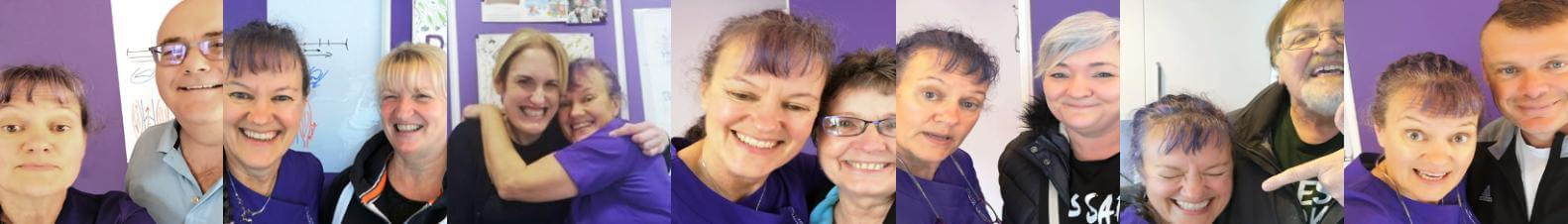 Gallery of patients with Dianne Ashcroft, the Potty Purple Podiatrist